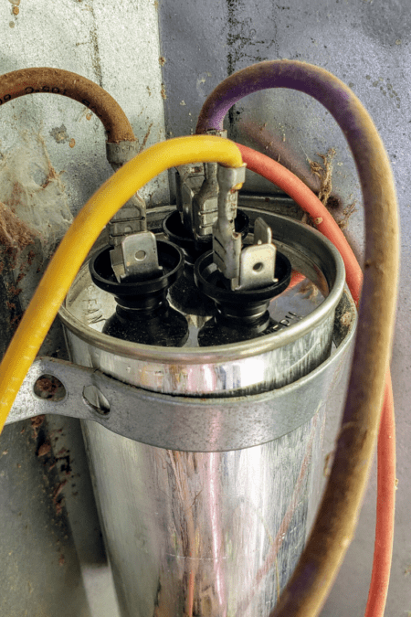 ac capacitor with wires still attached