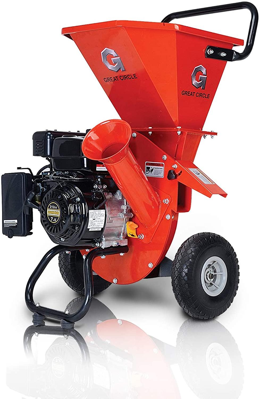 GreatCircleUSA Wood Gas Powered Chipper Shredder Mulcher