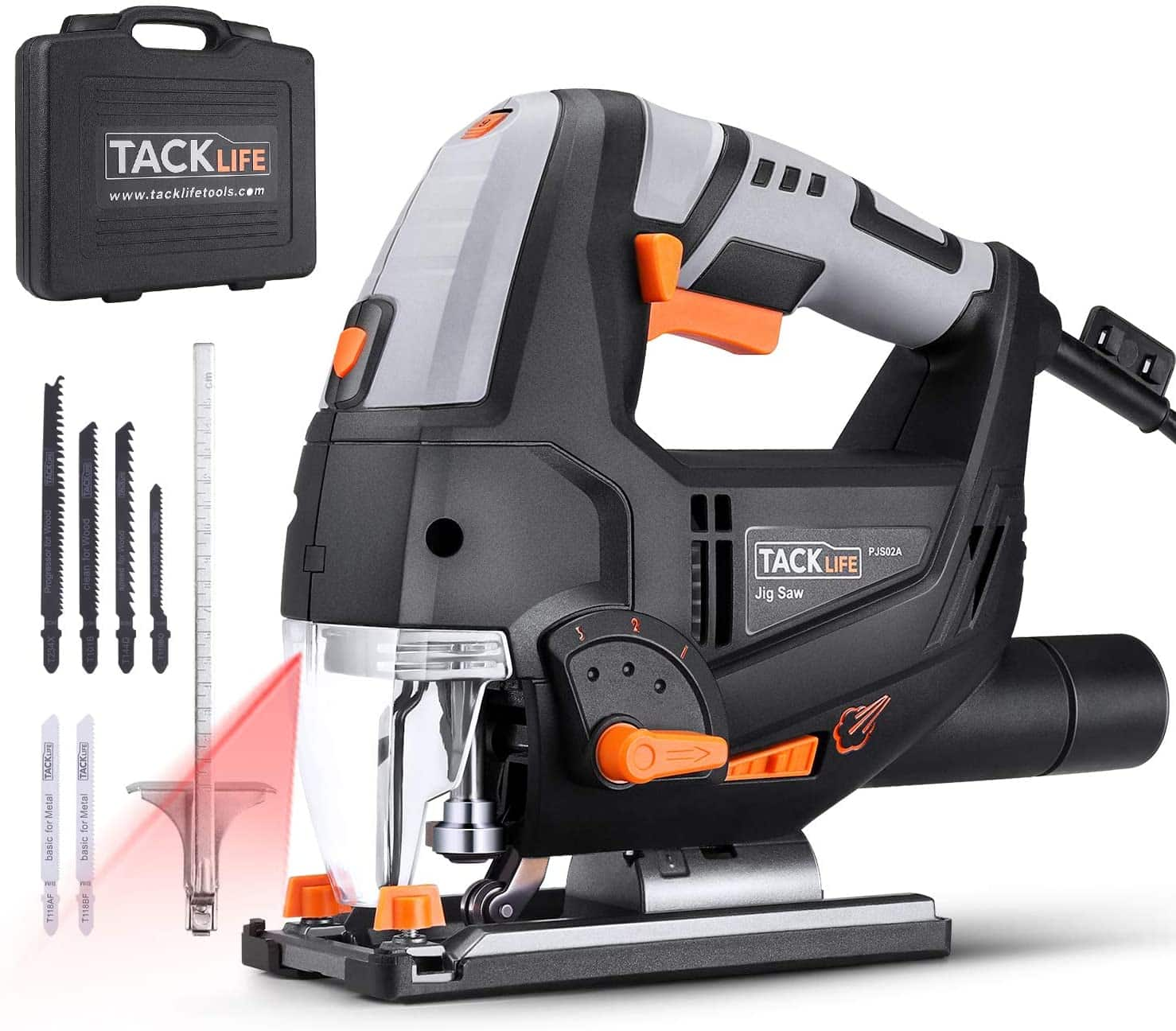 TACKLIFE Advanced 6.7 Amp Jigsaw with Laser & LED