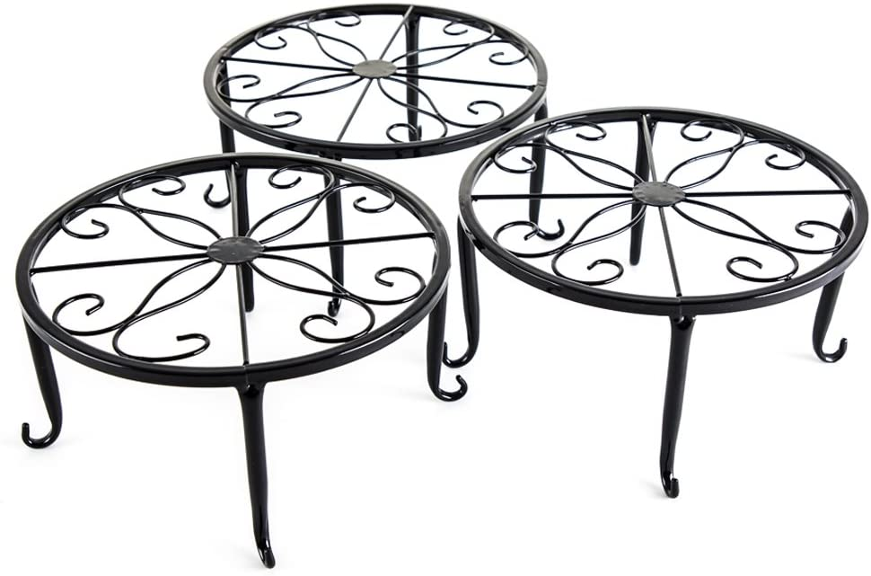 3-in-1 Iron Potted Plant Stand Rack