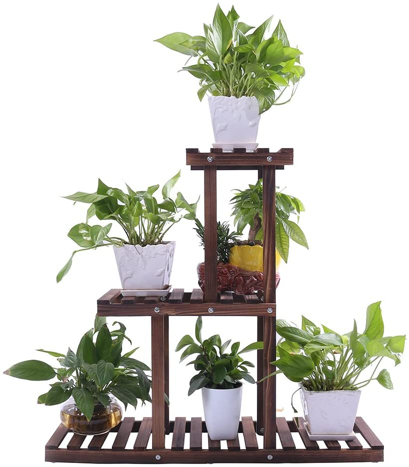 Ulfine 3-Tier Wooden Plant Stand
