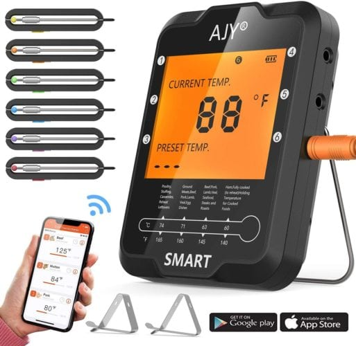AJY Smart Bluetooth Wireless Meat Thermometer