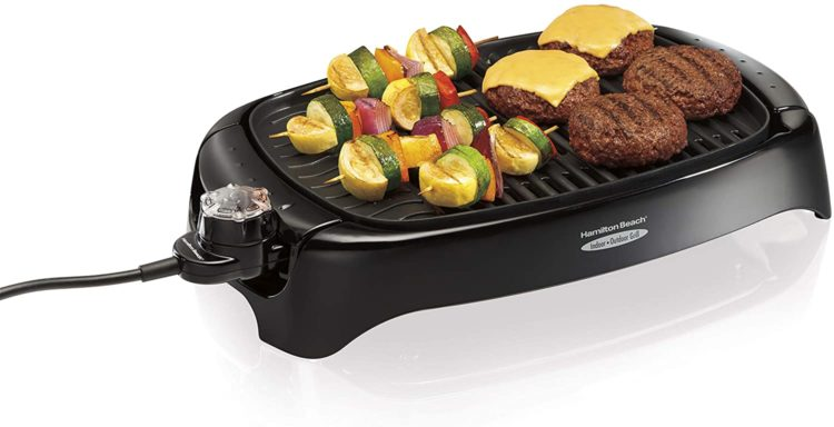 Hamilton Beach 8-Serving Electric Indoor & Outdoor Smokeless Grill