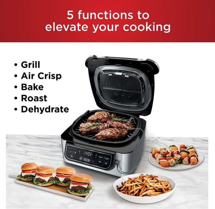 Ninja Foodi Pro 5-in-1 Integrated Smart Probe and Cyclonic Technology Indoor Grill and Air Fryer