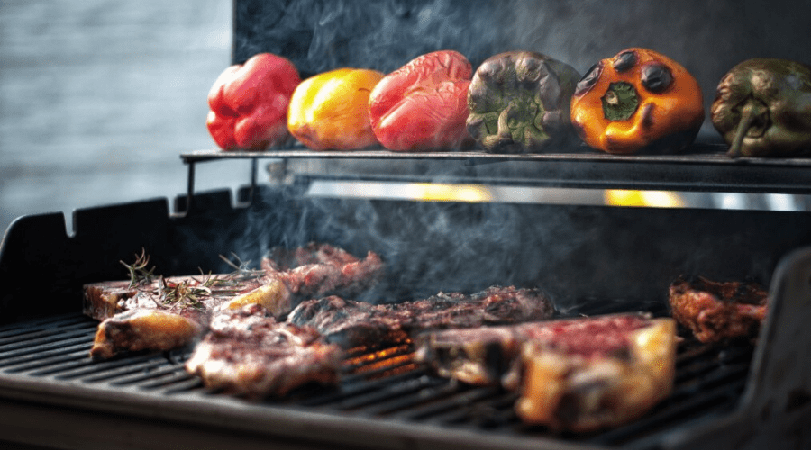 best bbq grill brands charcoal grill with meat and veggies