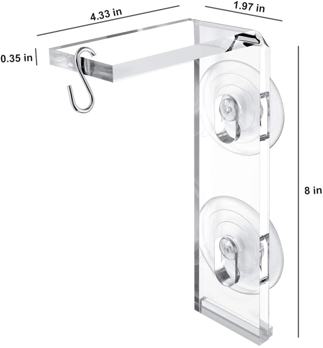 2-Pack Suction Cup Window Hanger