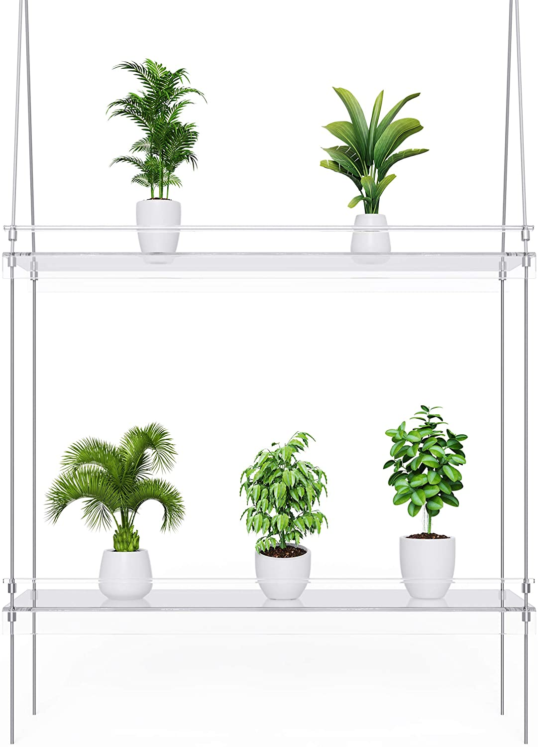 KUNZITE Hanging Window Plant Shelves