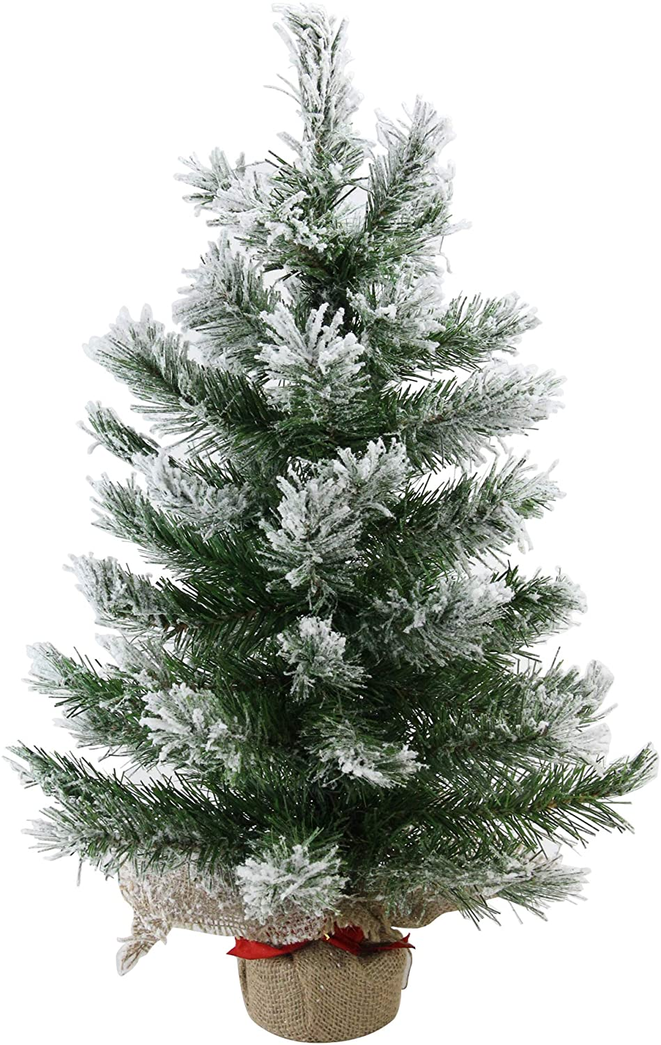 Northlight Pine Artificial Christmas Tree in Burlap Base, 24 inches