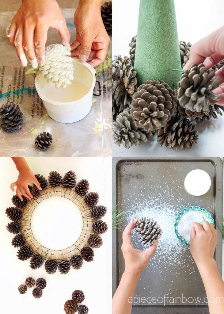 pine cone ornament decoration tutorials