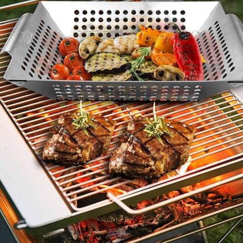 GRILLART Grill Basket for Vegetables & Meat