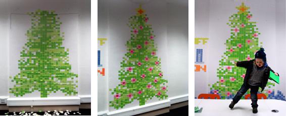 post-it note christmas tree alternative idea