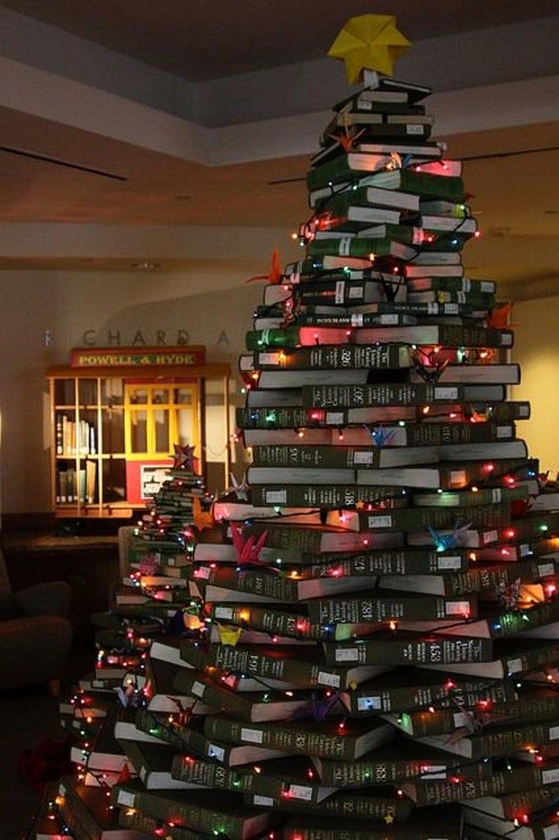 book tree alternative christmas idea