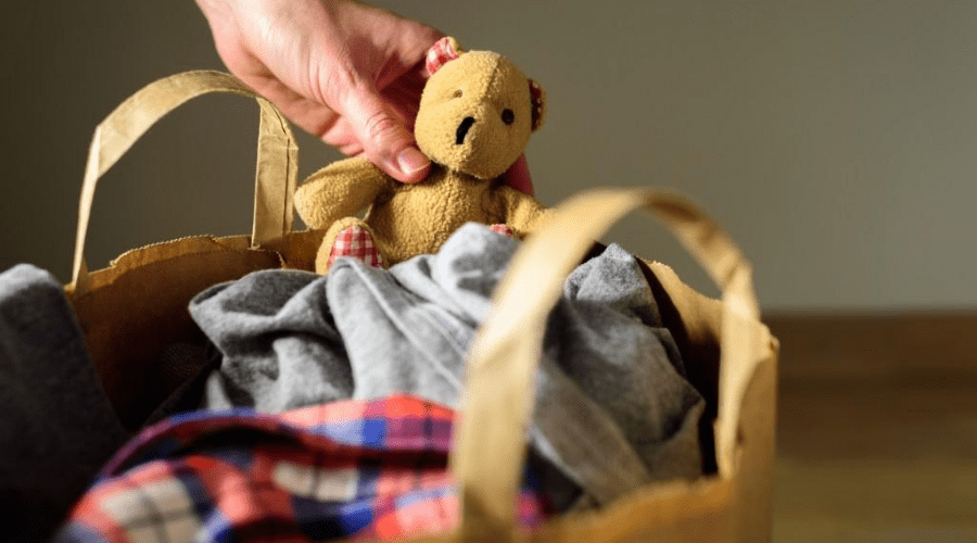 christmas kindness bucket list donation clothes and toys