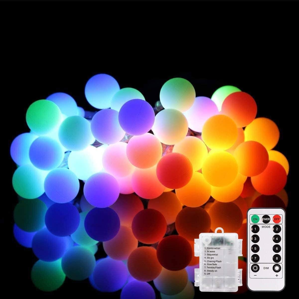 ALOVECO Colorful Globe LED String Lights