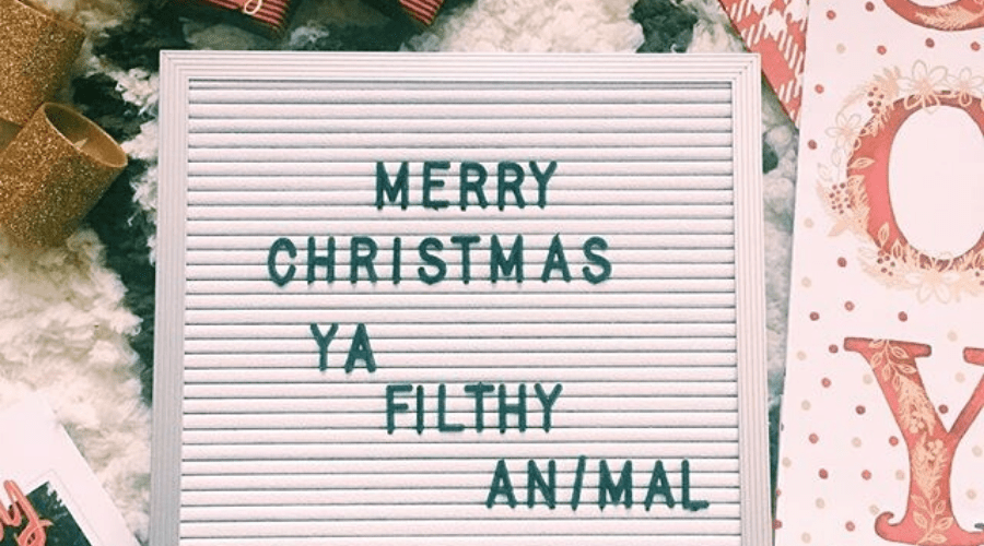merry christmas quote home alone ya filthy animal sign