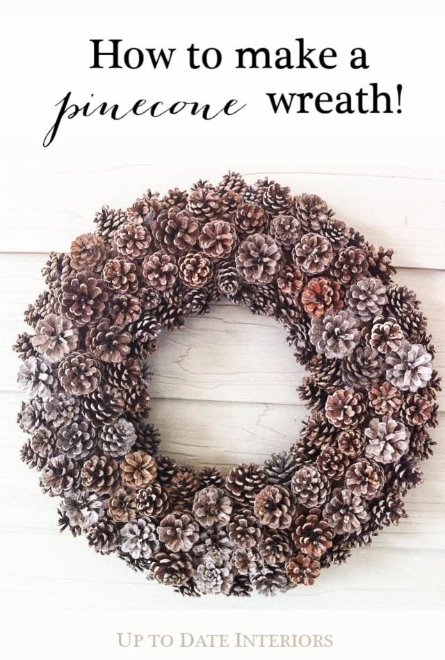 pinecone wreath tutorial diy natural christmas decor ideas