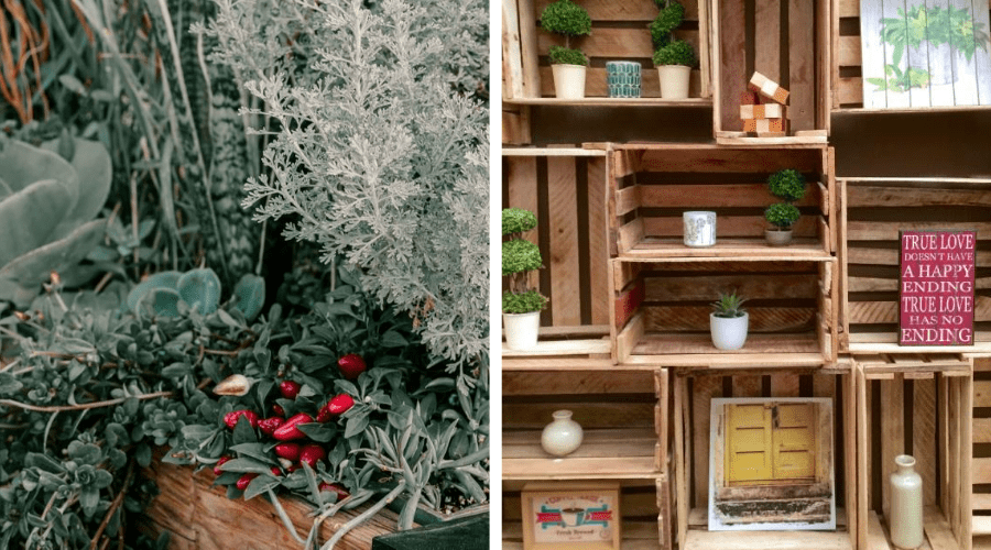 plant display ideas 13 wooden crates