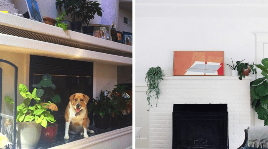 plants on fireplace mantles traditional and modern settings