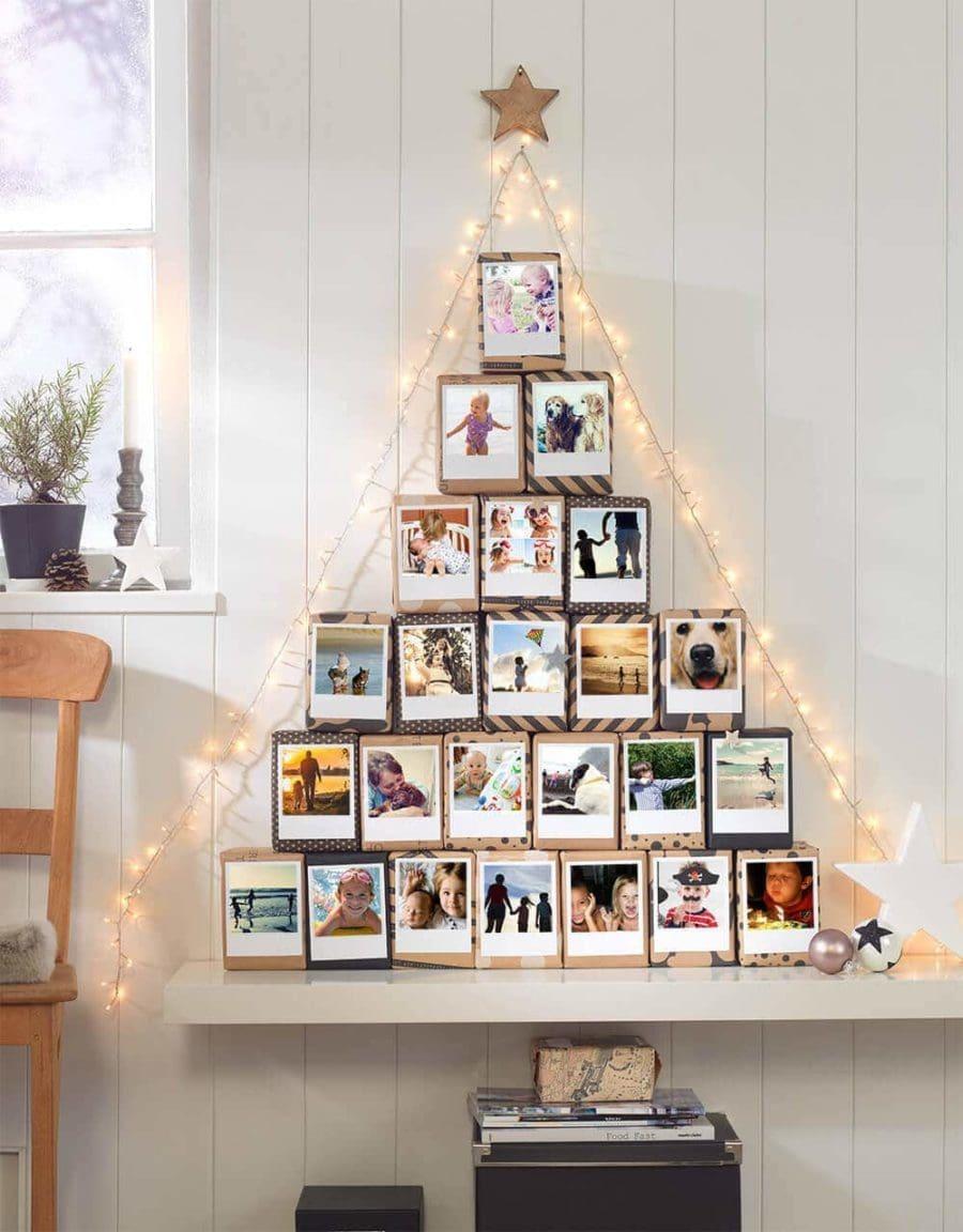 polaroid christmas alternative tree idea