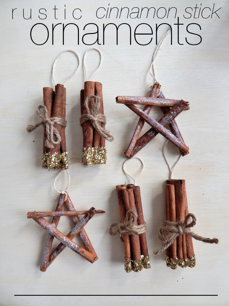 rustic cinnamon stick ornaments