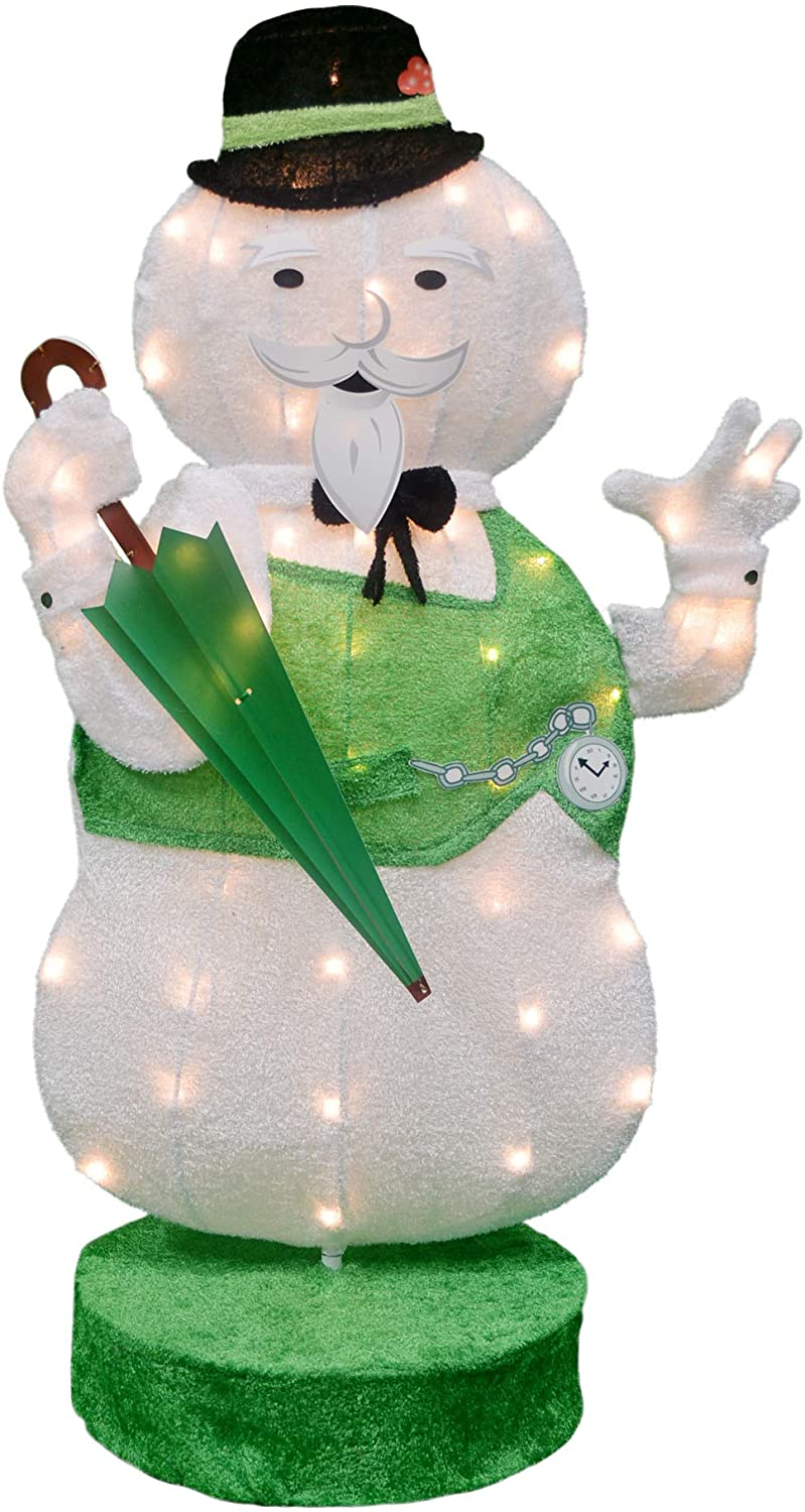 ProductWorks LED Rotating Sam The Snowman Yard Art