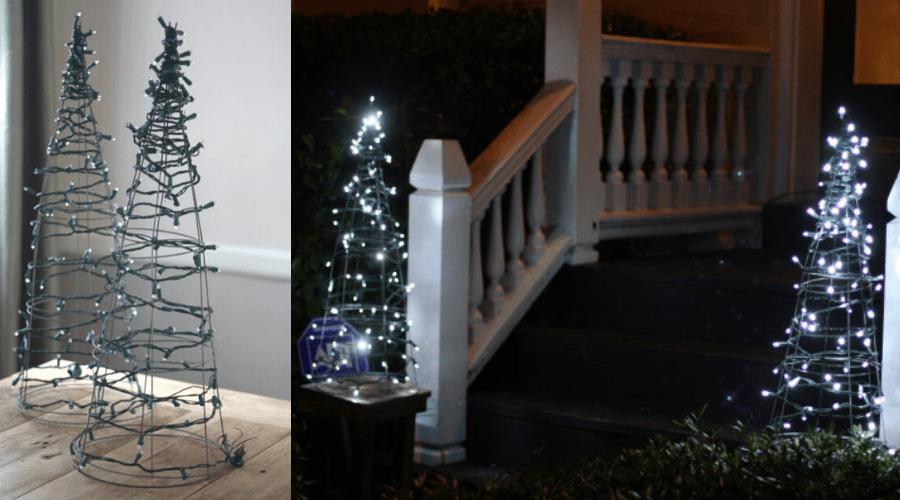 alternative christmas tree idea tomato cage DIY tutorial