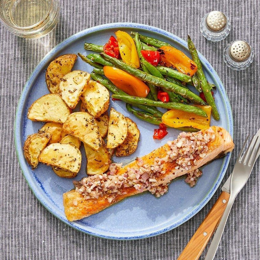 mustard salmon with vinaigrette blue apron