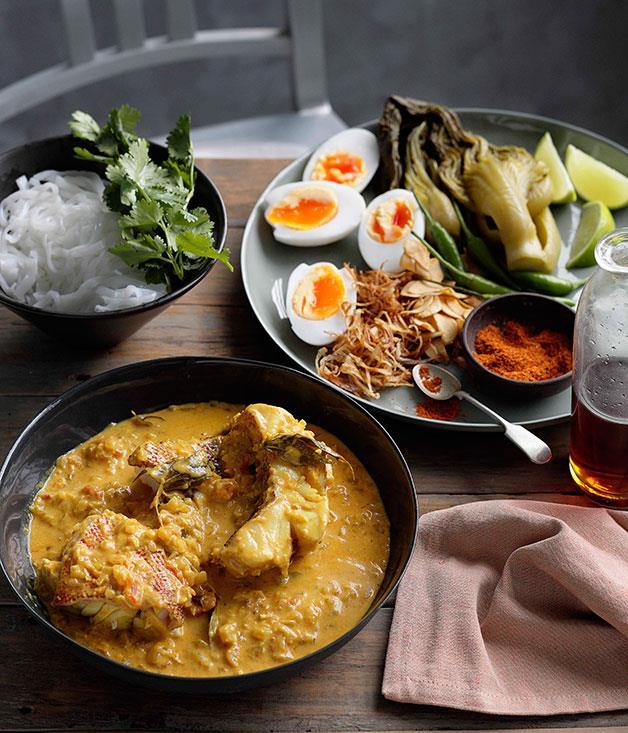 mohinga recipe gourmet traveler