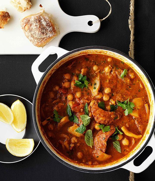 fish chorizo stew