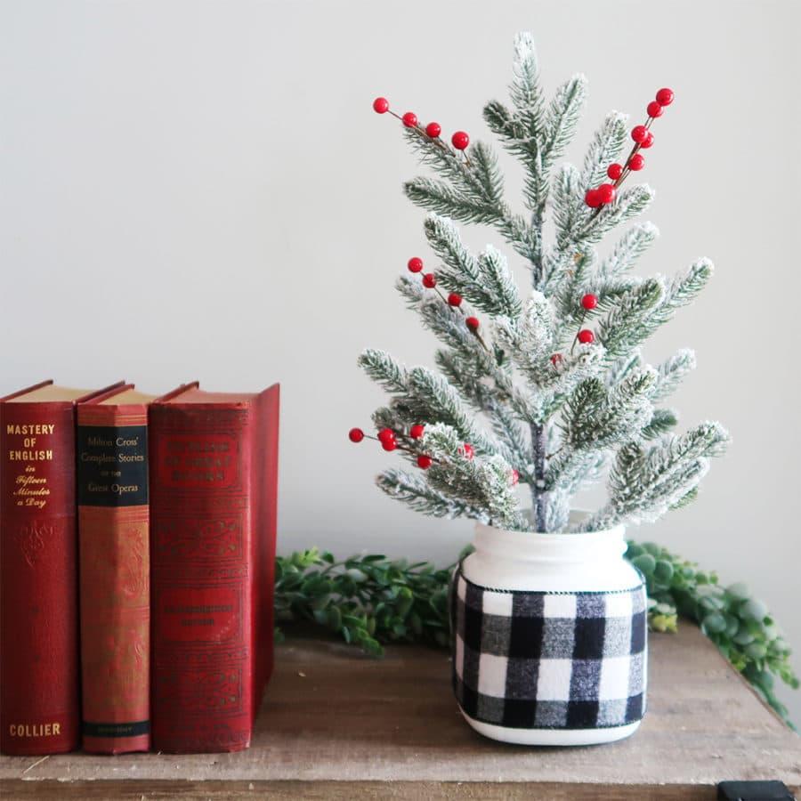 mason jar alternative christmas tree idea