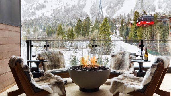 resort patio caldera firepit seating