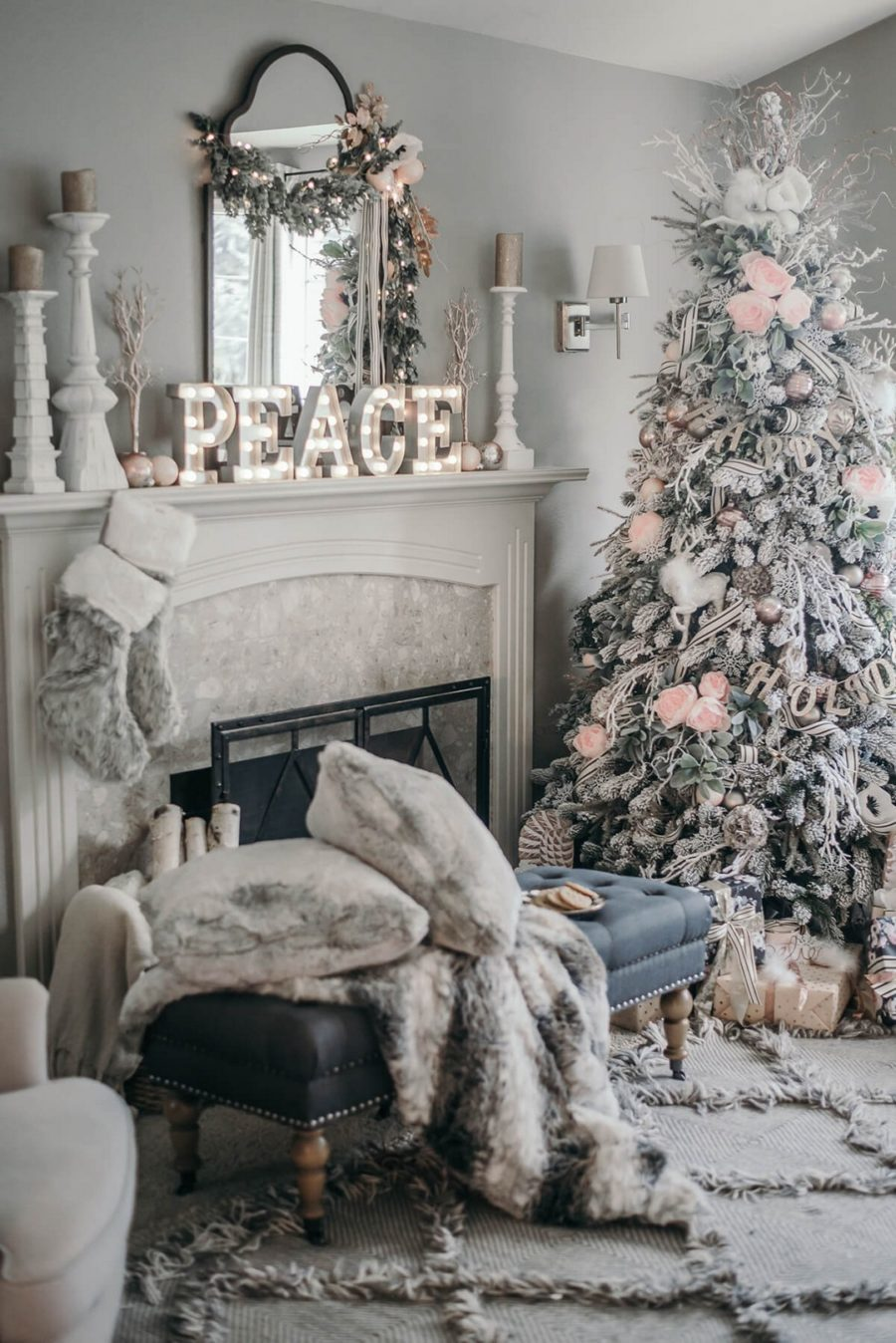 Winter wonderland Christmas decorating theme