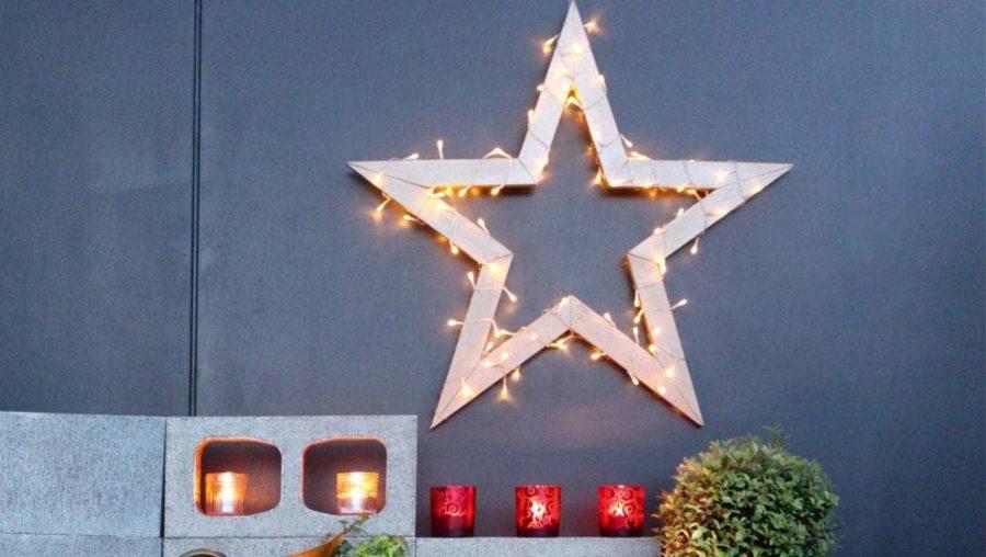 DIY lighted star decoration tutorial
