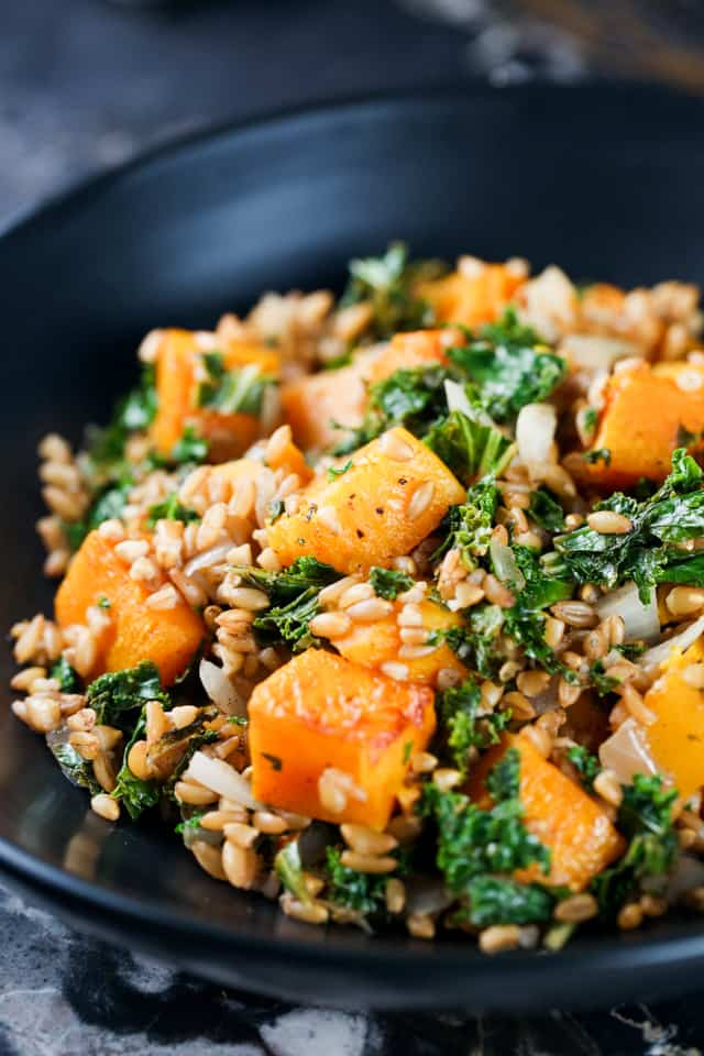 winter salad recipe farro squash