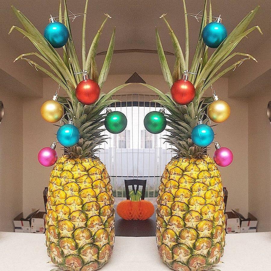 festive pineapple DIY alternative christmas tree idea