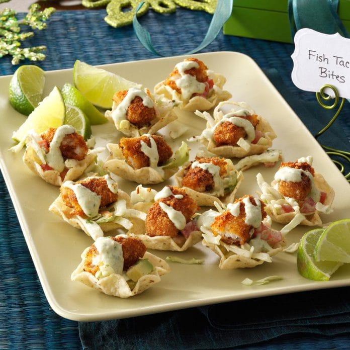 fish taco bites appetizer recipe