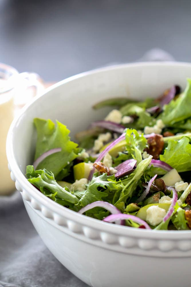 pear and blue cheese winter salad recipe