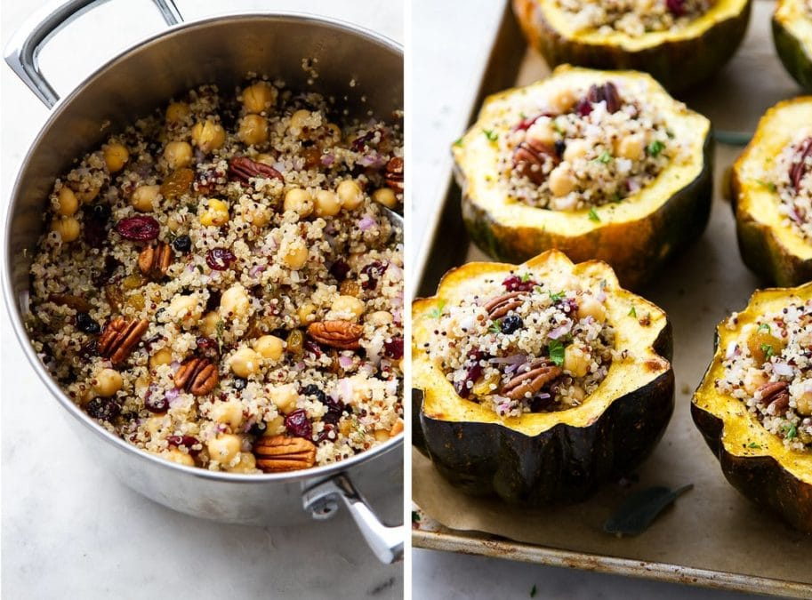 STUFFED ACORN SQUASH WITH QUINOA recipe