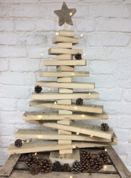 Wooden Christmas Tree - rustic Christmas tree - reclaimed wood