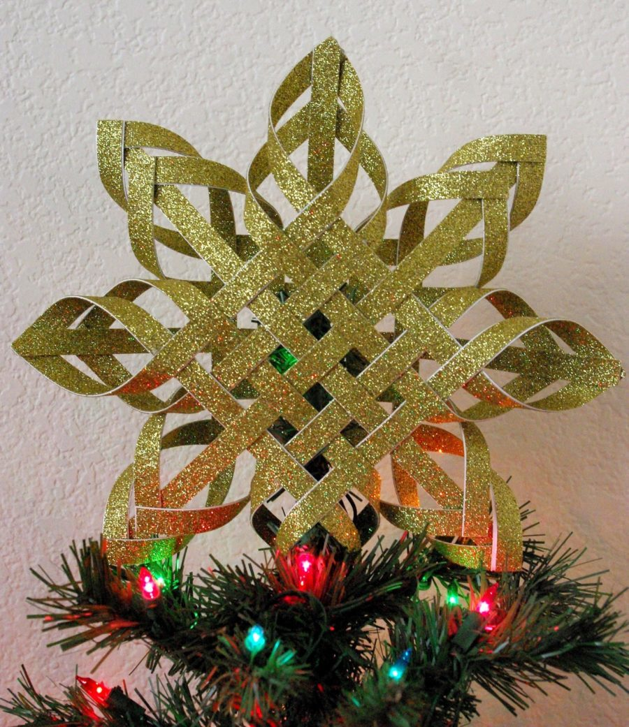 Woven Star DIY Tree topper tutorial