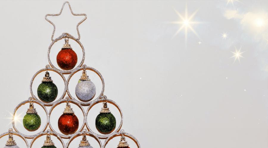 modern alternative christmas tree decor DIY ideas