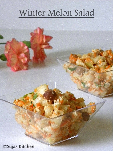 winter melon ash gourd indian style salad recipe