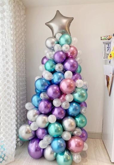 balloon tree alternative christmas idea
