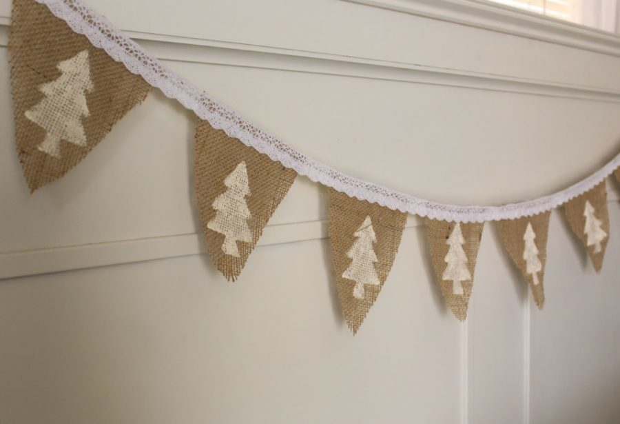 simple natural burlap banner diy tutorial