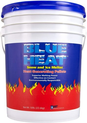 Blue Heat Snow and Ice Melter Rock Salt