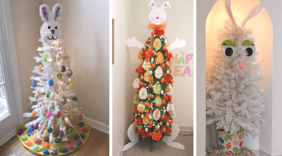 Easter Bunny themed Christmas Trees