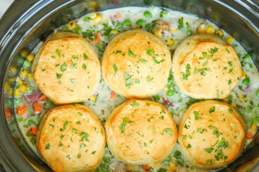 crock pot chicken pot pie slow cooker recipe