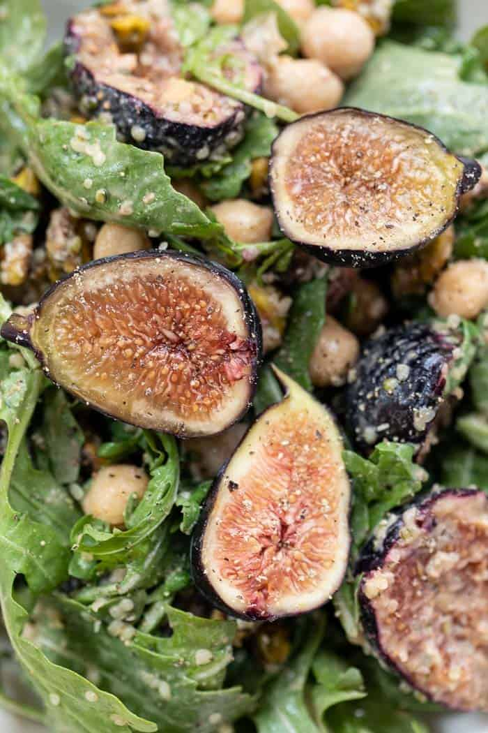 fig arugula winter salad with creamy balsamic dressing recipe