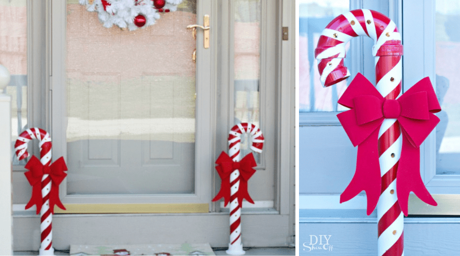 candy cane pvc pipe craft tutiorial
