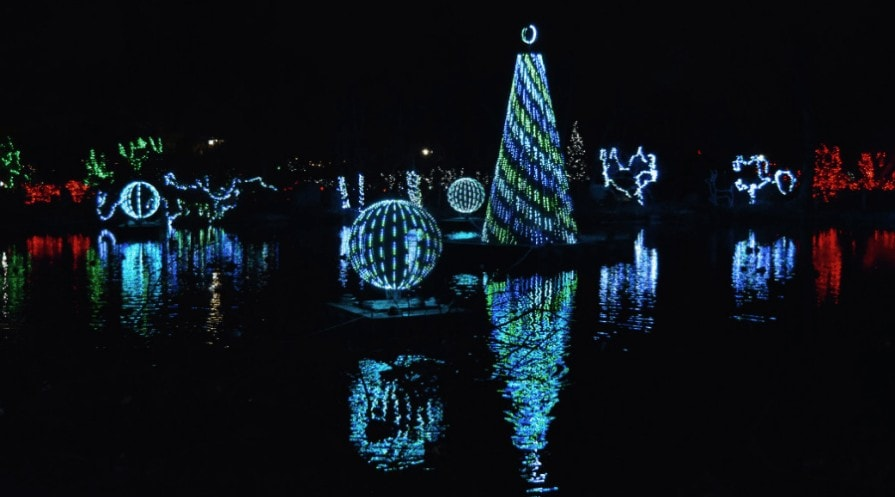 christmas light displays cincinnati zoo swan lake
